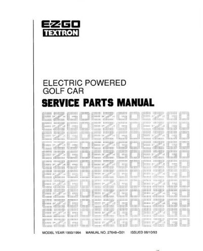 PU22-370 - Parts Manual, Electric, '92-'94