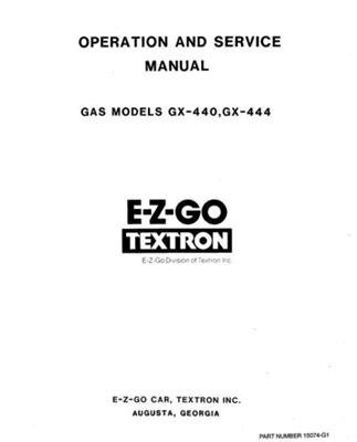 PU22-500 - Service Manual, Gas, '71-'75