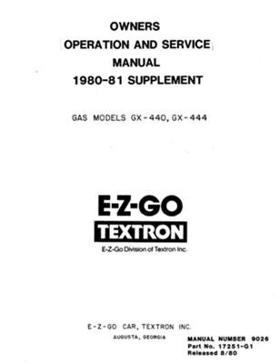 PU22-520 - Service Manual. Gas, '80-'82