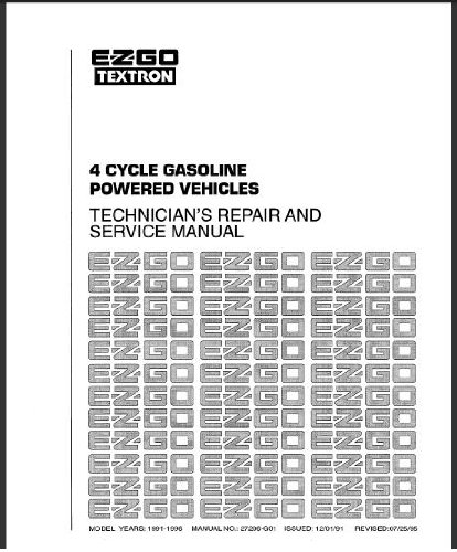 PU22-580 - Service Manual, Gas, '91-'94, 4-cycle