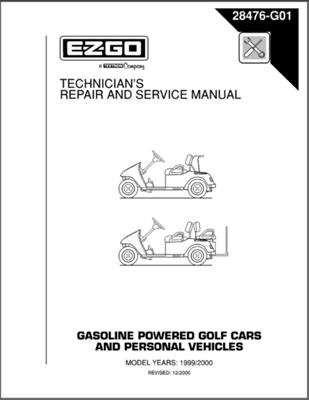 PU22-630 - Service Manual, Gas, '97-'00 TXT