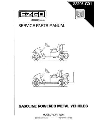 PU22-810 - Parts Manual, Gas, '94-'96