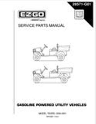 PU22-840 - Parts Manual, Gas, '00-'02