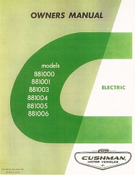PU33-050 - Service Manual, Electric, '66