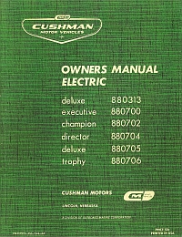 PU33-070 - Service Manual, Electric, '64-'65
