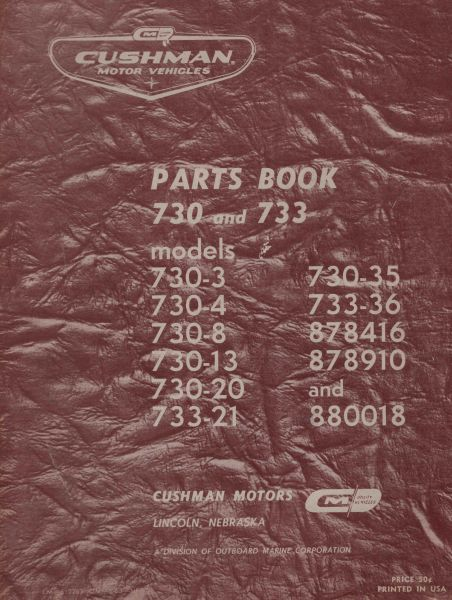 PU33-001 - Parts Manual, Electric, '53-'67