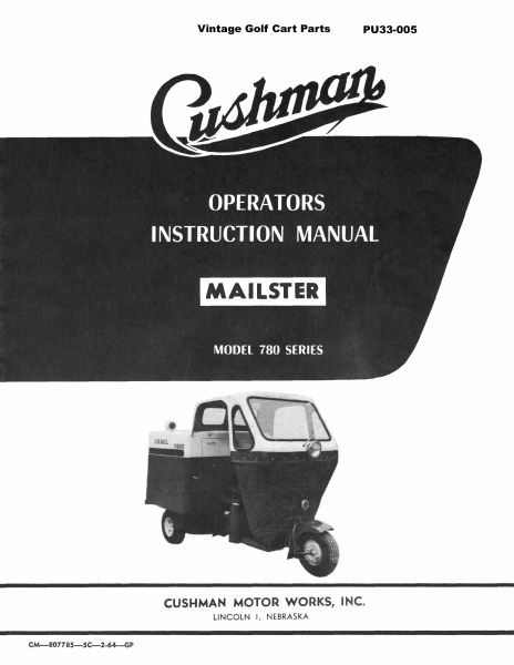 PU33-005 - Service Manual, Gas, '57-'58