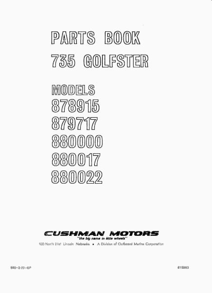 PU33-010 - Parts Manual, Gas, '61-'64
