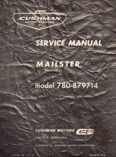 PU33-014 - Service Manual, Gas, '61-'62