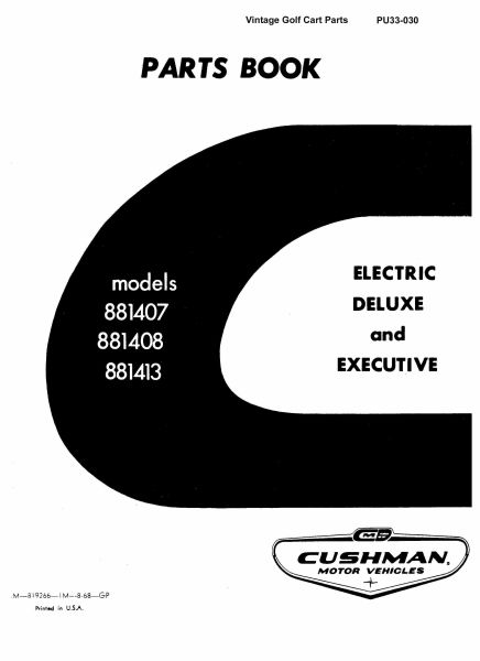 PU33-030 - Parts Manual, Electric, '67