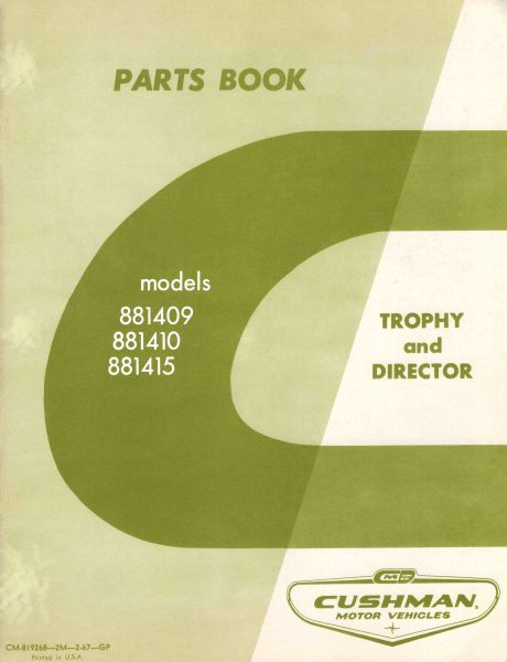 PU33-053 - Parts Manual, G&E, '67-'68