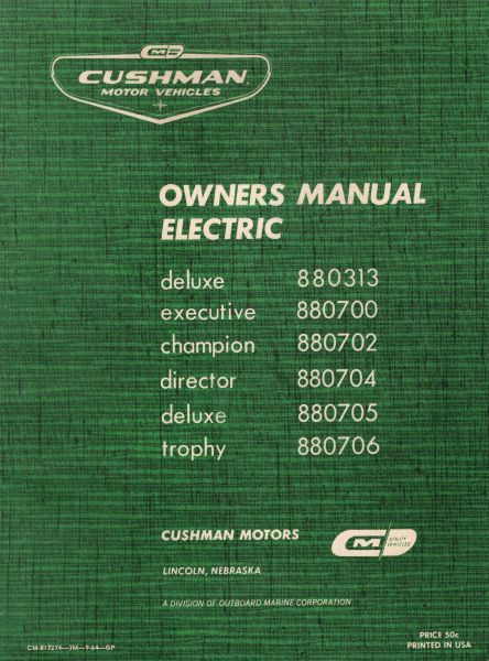 PU33-048 - Service Manual, Electric, '64-'65