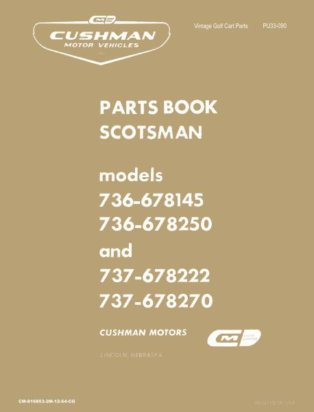PU33-090 - Parts Manual, Gas, '65-'68