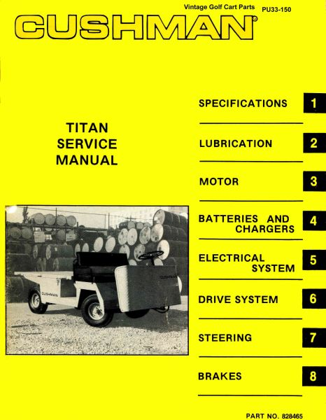 PU33-150 - Service Manual, Elecrtric, '77-'83