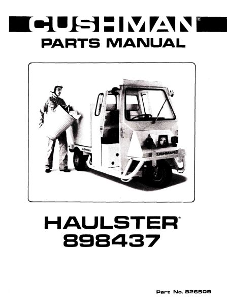 PU33-165 - Parts Manual, Gas, '79-'81