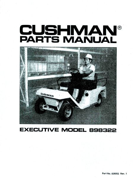 PU33-200 - Parts Manual, Electric, '83-'94
