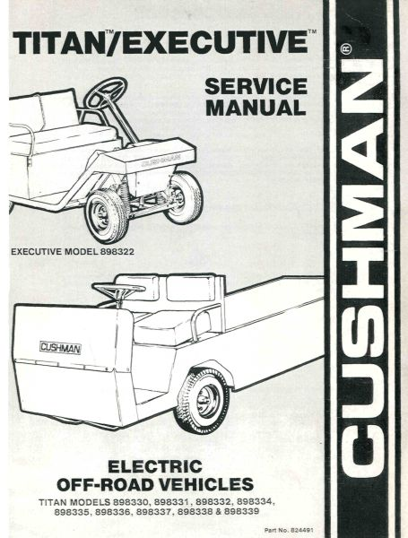 service manuals vintage golf cart parts inc rh vintagegolfcartparts com Cushman Truckster OMC Engine with Parts Cushman OMC Engine Points