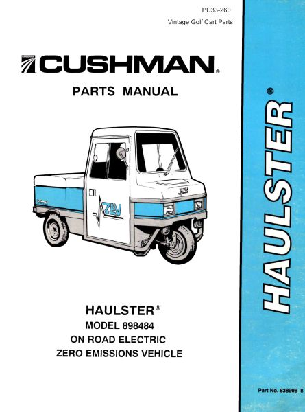 PU33-260 - Parts Manual, Electric, '93