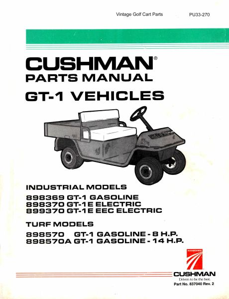 manuals \u0026 publications vintage golf cart parts inc Cushman Starter Generator Wiring Diagram