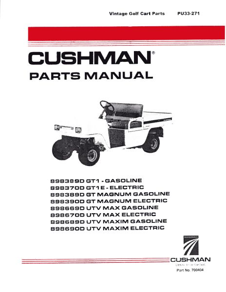 Parts Manuals Vintage Golf Cart Parts Inc