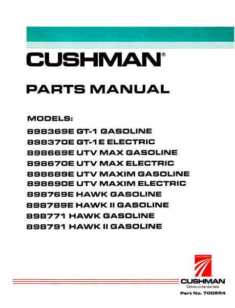 PU33-274 - Parts Manual, G&E, '96 +