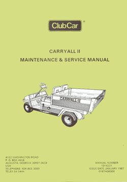 PU44-200 - Service Manual, Gas, '86-'91 Carryall II