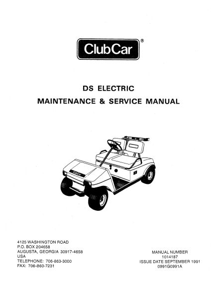 1995 club car service manual how to and user guide instructions u2022 rh taxibermuda co Instruction Manual Toy Cars club car precedent user manual
