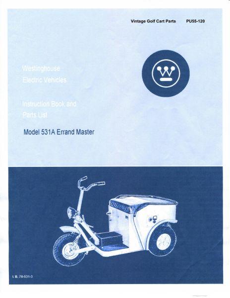 PU55 120 parts manuals vintage golf cart parts inc