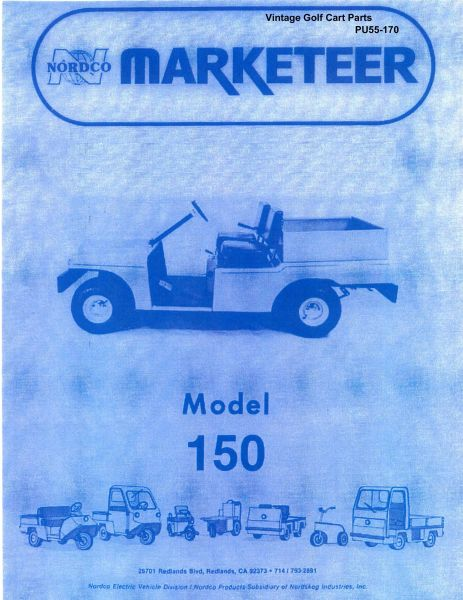 PU55 170 parts manuals vintage golf cart parts inc