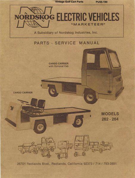 PU55 190 parts manuals vintage golf cart parts inc
