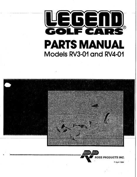 PU77-451 - Parts, Oper & Serv Manual, RV3-01 & RV4-01