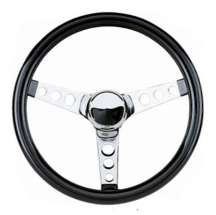 ST55-490 - Chrome Steering Wheel, 12-1/2""