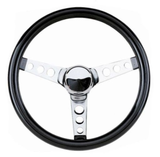 ST55-500 - Chrome Steering Wheel, 13-1/2""