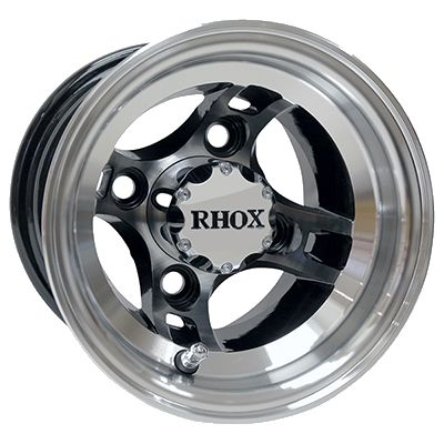 WM11-124 - RHOX Machined Aluminum Wheel, Black Center
