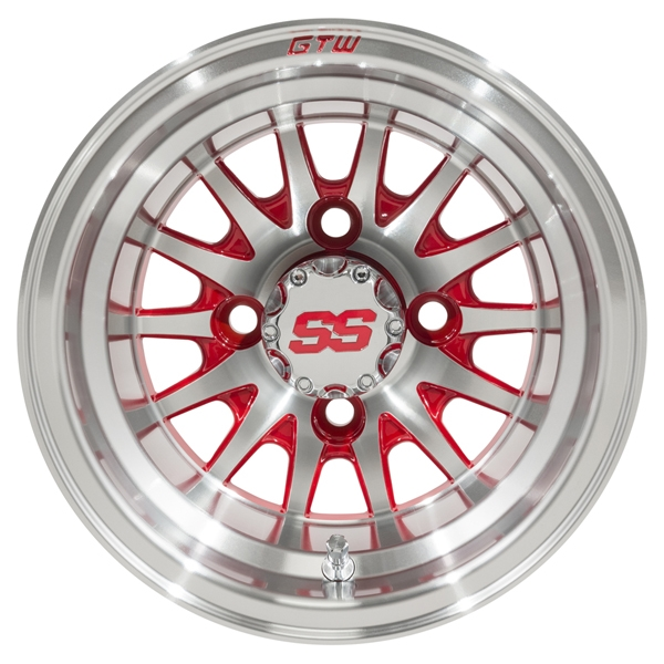WM11-135 - Medusa Machined Aluminum Wheel, Red