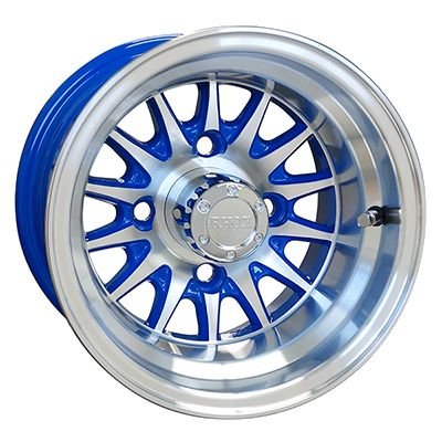 WM11-145 - Phoenix Machined Aluminum Wheel, Blue