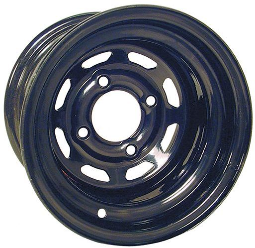 "WM11-153 - Custom 10"" Window Steel Wheel, Black"